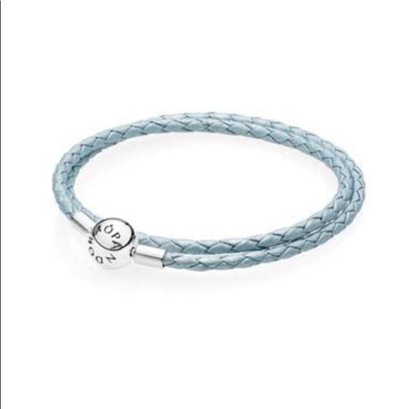 e9558906c ... release date light blue pandora leather bracelet size s 4662c d1ee3